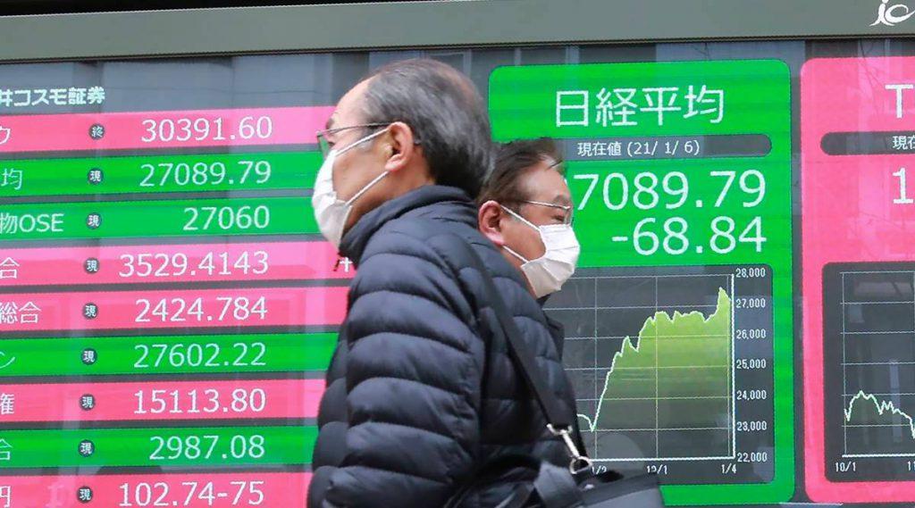 एशियाई शेयर ज्यादातर वायरस के रूप में कम होते हैं, चीन-अमेरिकी तनाव का वजन होता है