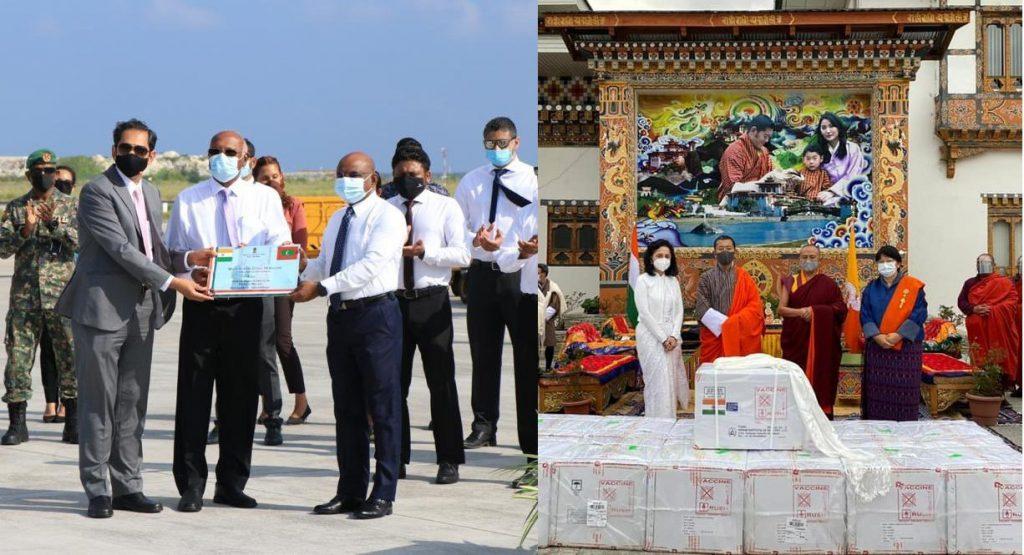 मालदीव, भूटान अनुदान के रूप में भारत द्वारा भेजे गए टीकों के लिए आभार व्यक्त करता है